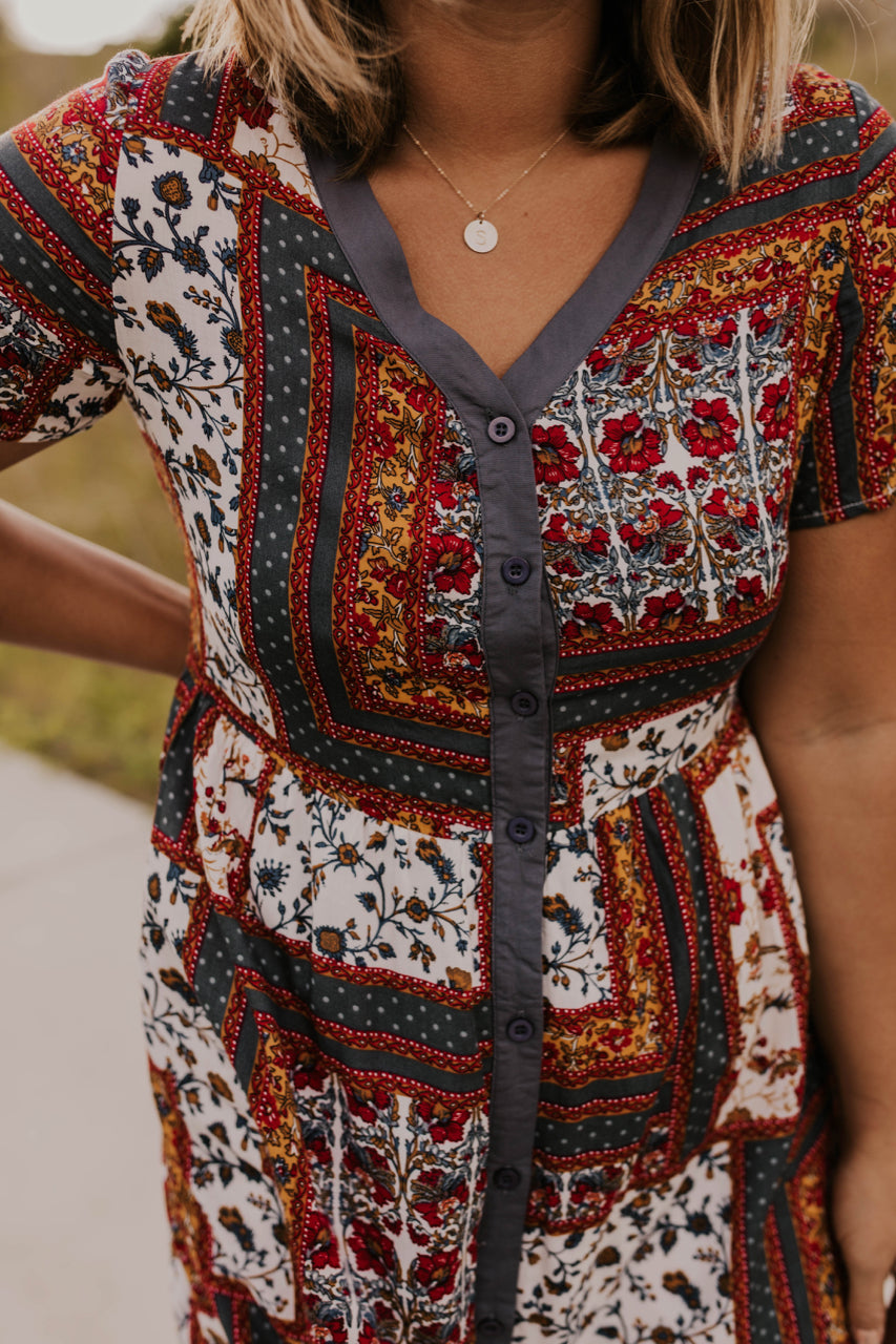 Women's Modest Patchwork Dress | ROOLEE