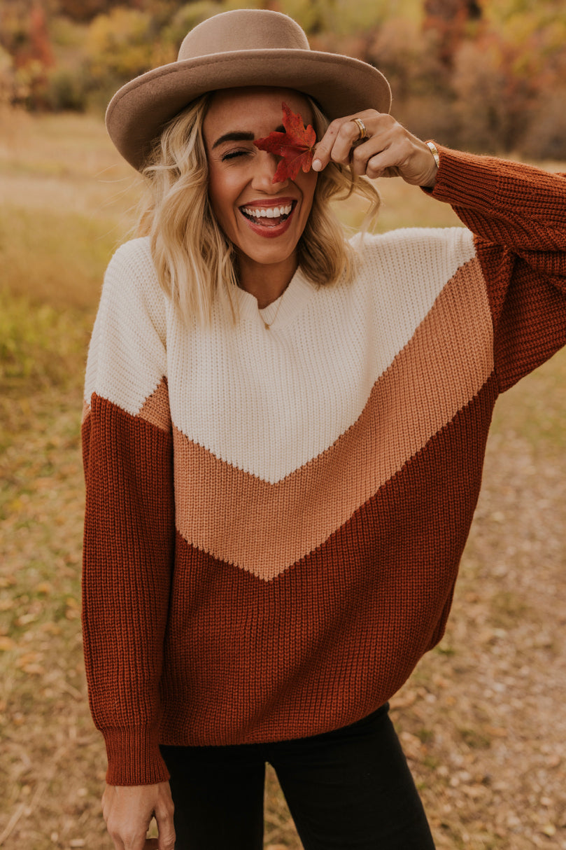 Chevron Stripe Sweater | ROOLEE