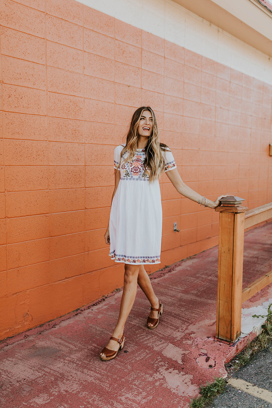 Short Sleeve Embroidered Dress | ROOLEE
