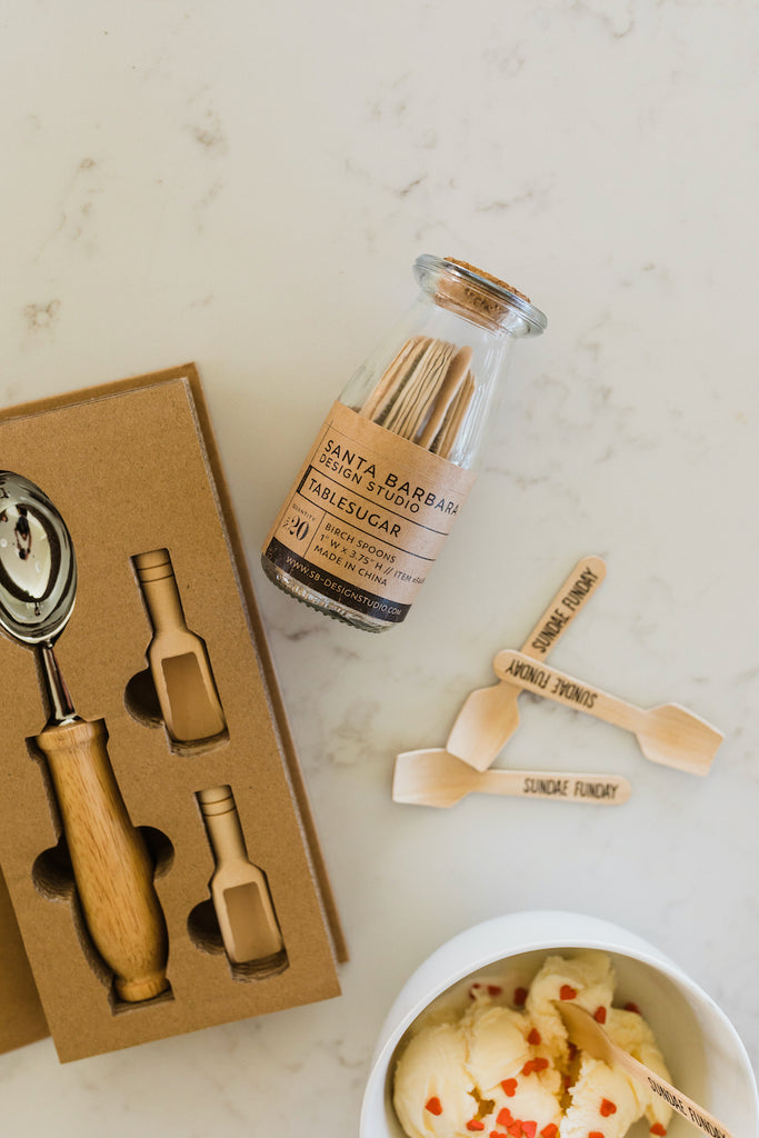 Wooden modern ice cream spoons | ROOLEE