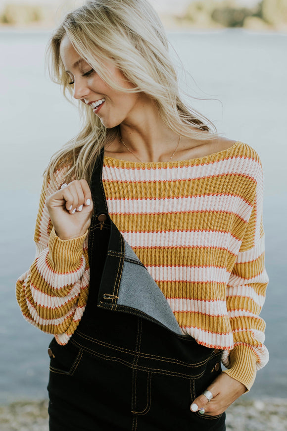 Free People Just My Stripe Pullover Sweater | ROOLEE