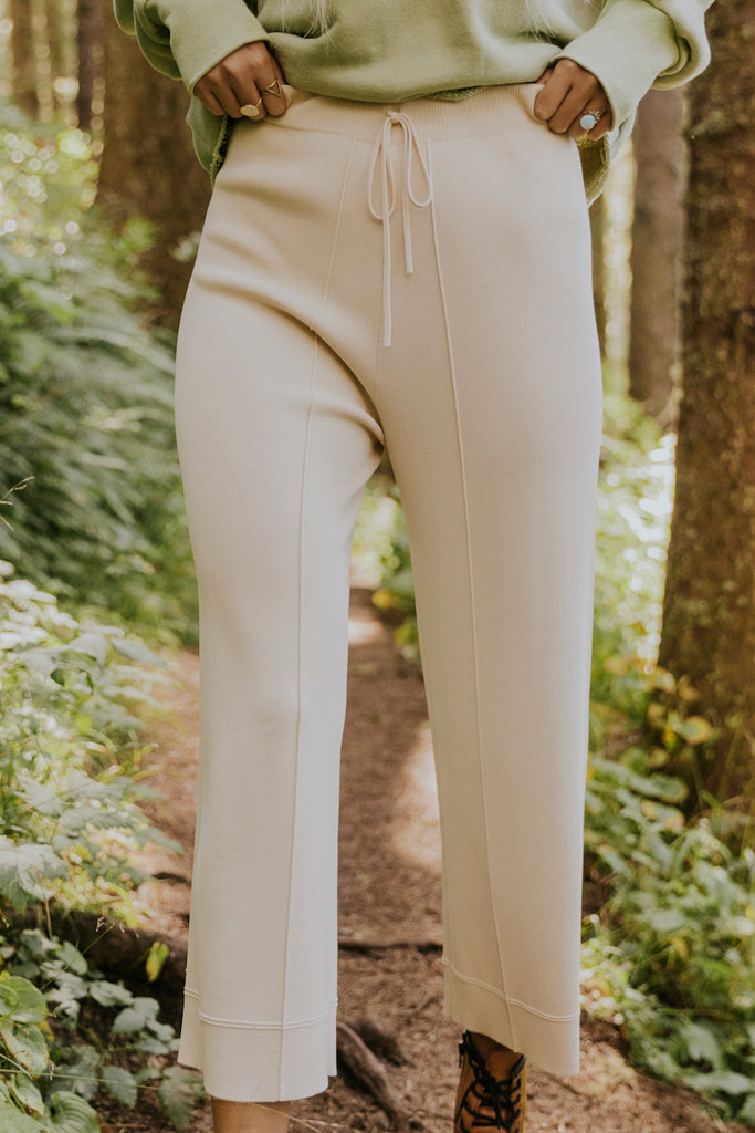 Tight knit stretch pants | ROOLEE
