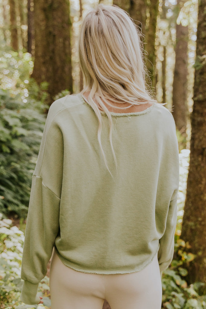 Light green oversized sweater | ROOLEE