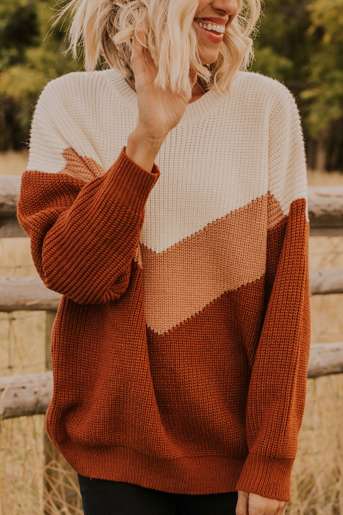 Relaxed Fit Camel Sweater | ROOLEE