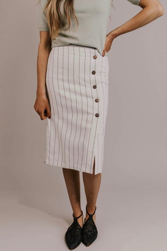Ivory Pencil Skirt | ROOLEE