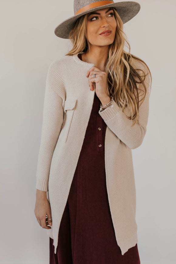 Long Knit Cardigan | ROOLEE