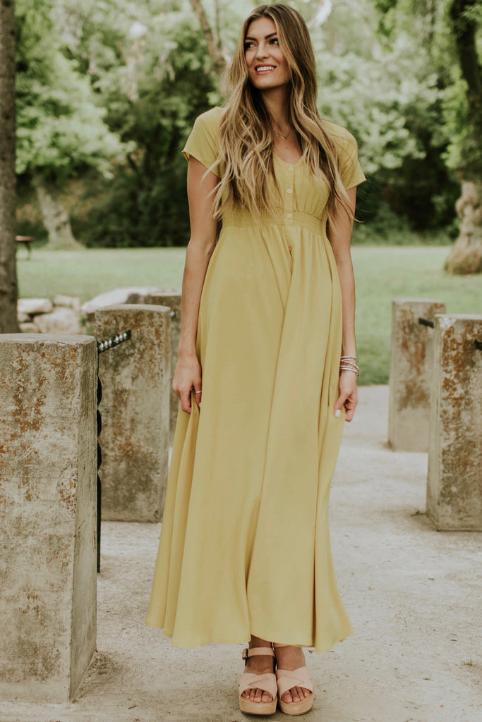 Yellow Flowing Maxi | ROOLEE