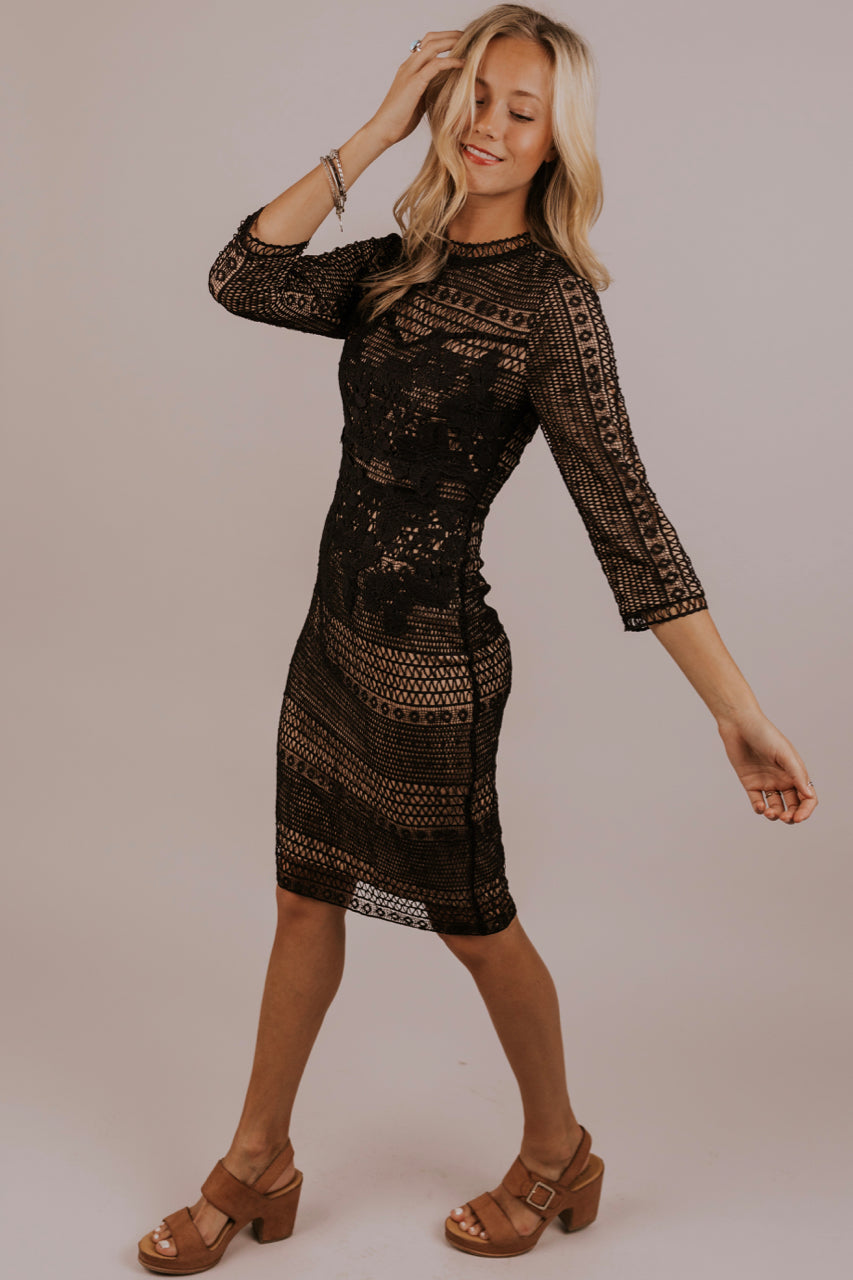 Black Lace Dress | ROOLEE