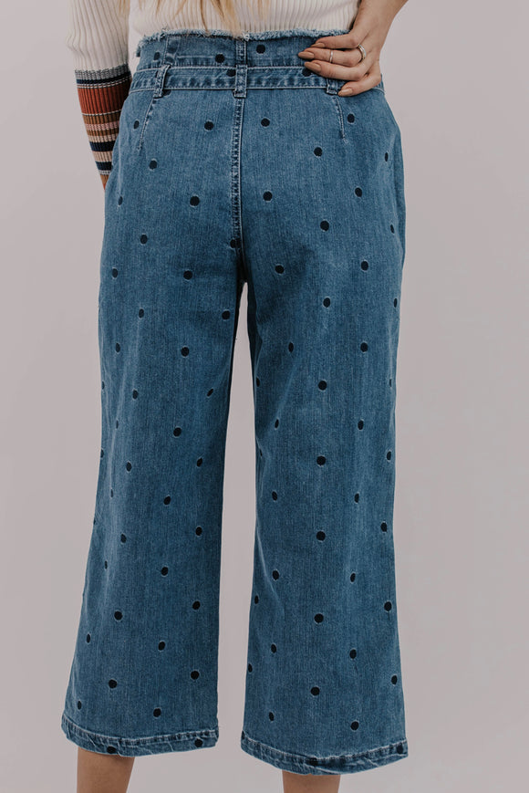 Wide Leg Denim Pant | ROOLEE