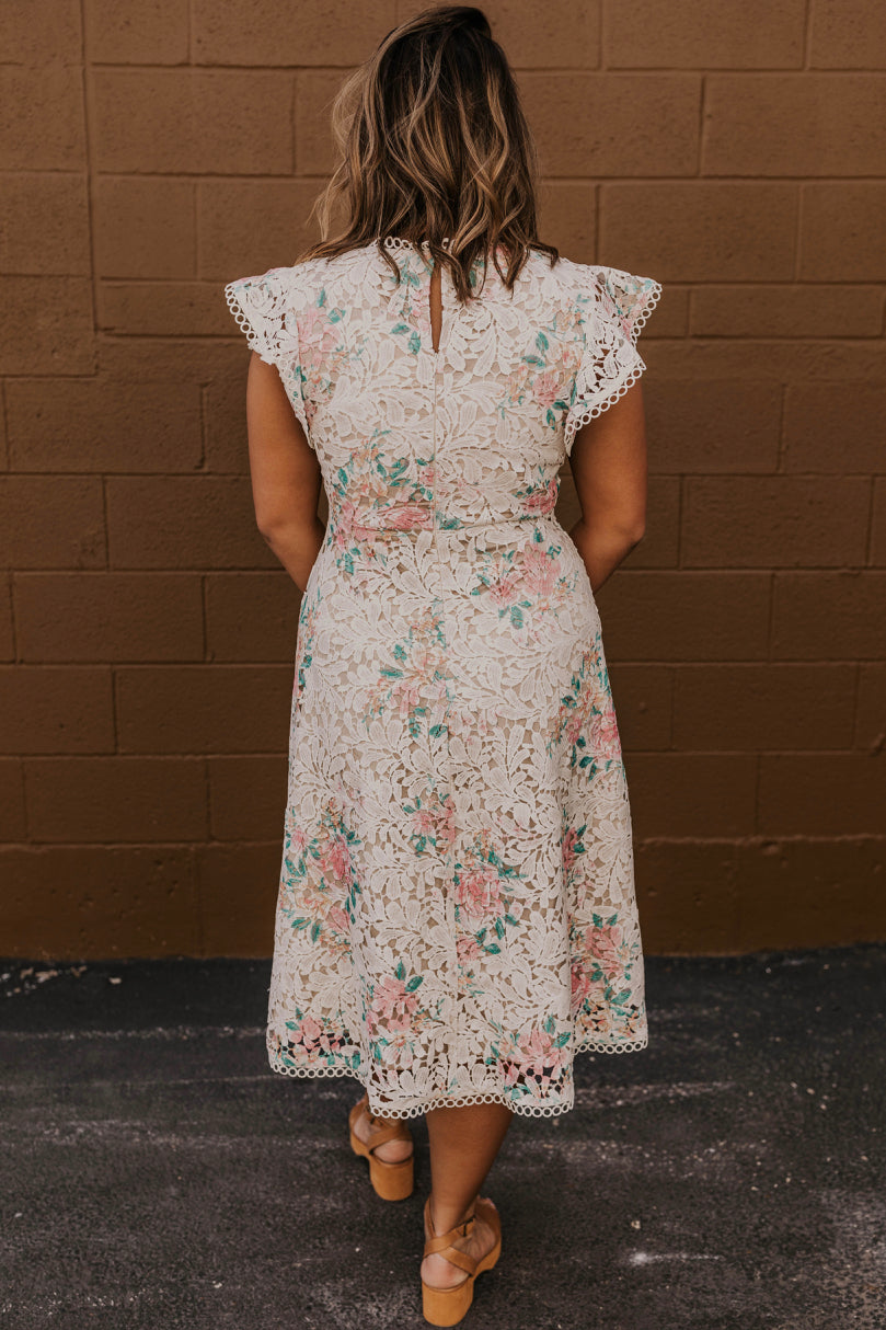 Flutter Sleeve A Line Dress | ROOLEE