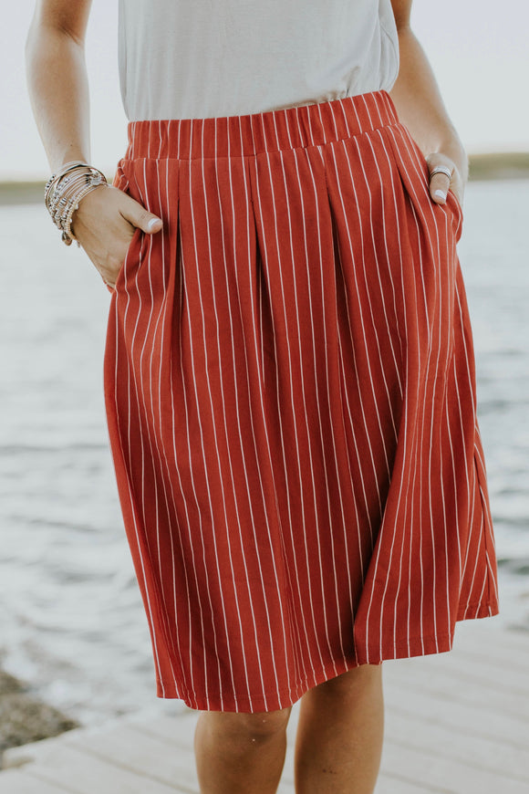 Merrill Stripe Skirt | ROOLEE