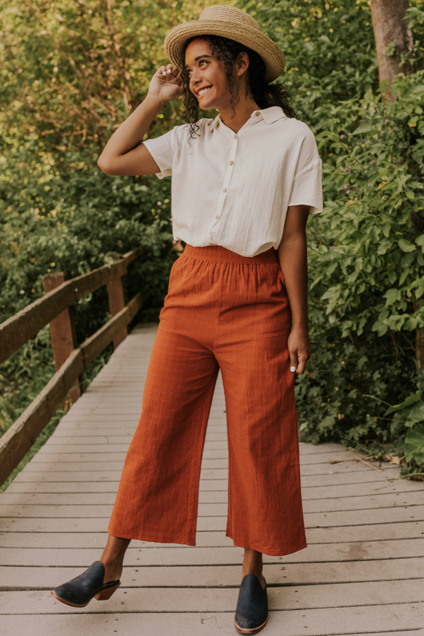 Wide Leg Cropped Pants | ROOLEE