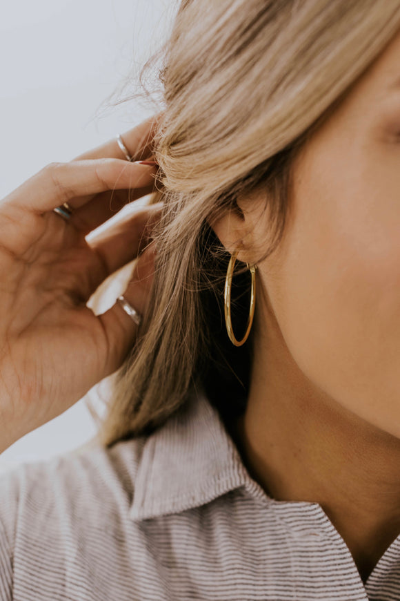 Polished Hoop Earring