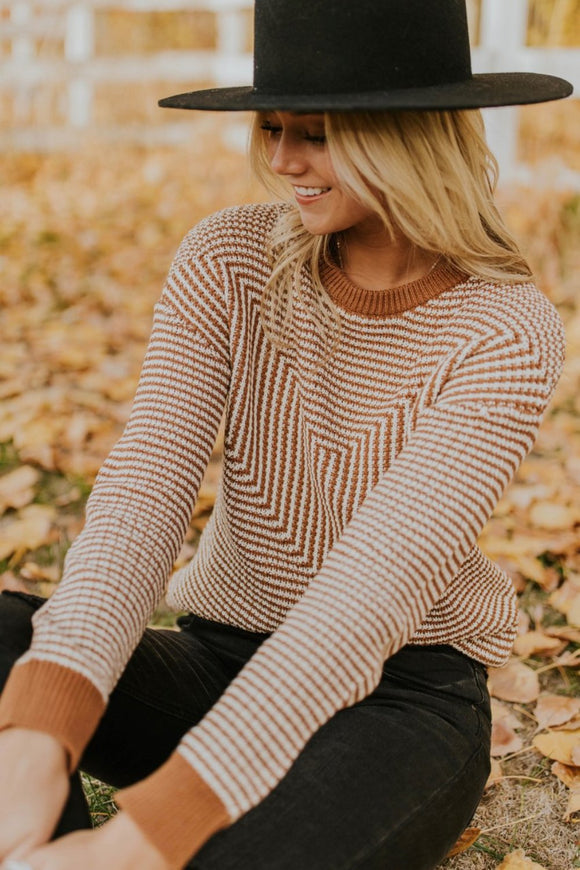 Long Sleeve Knit Sweater Outfit Ideas | ROOLEE Tops