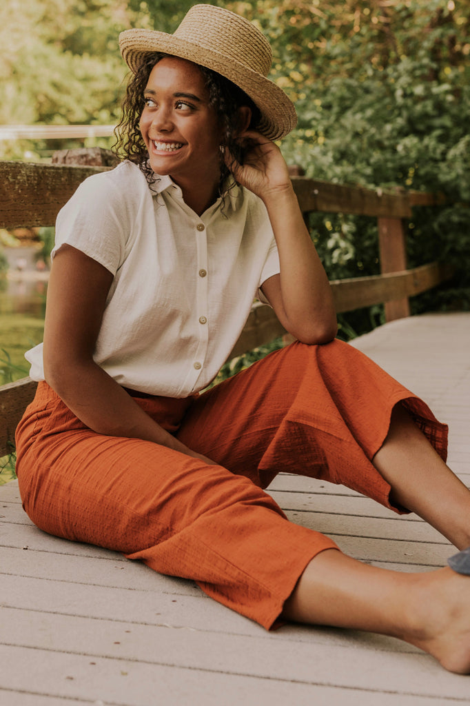 Rust Cropped Pants | ROOLEE