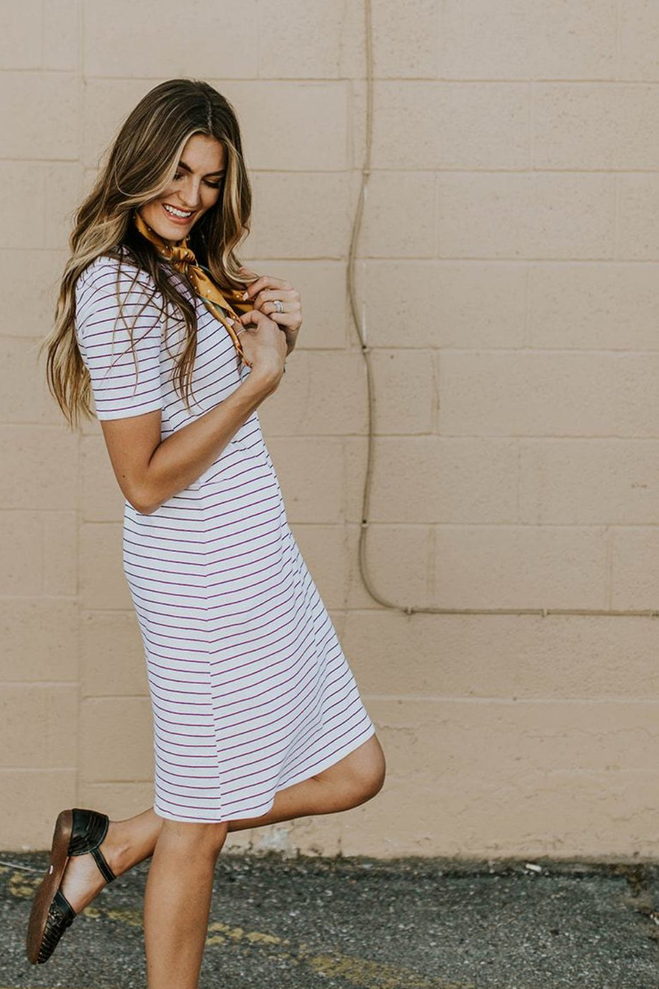 White Short Sleeve Dress | ROOLEE