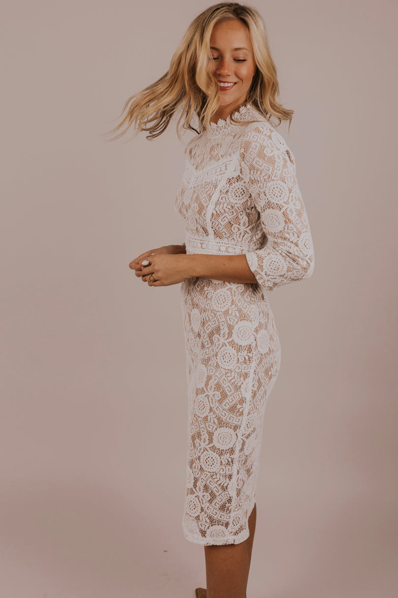Lace Midi Dress | ROOLEE
