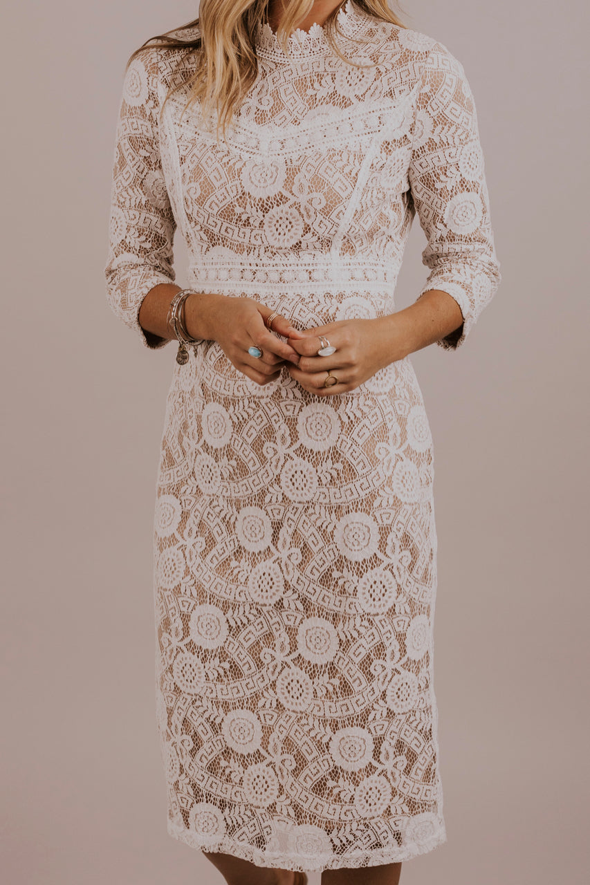 Modest Lace Dress | ROOLEE