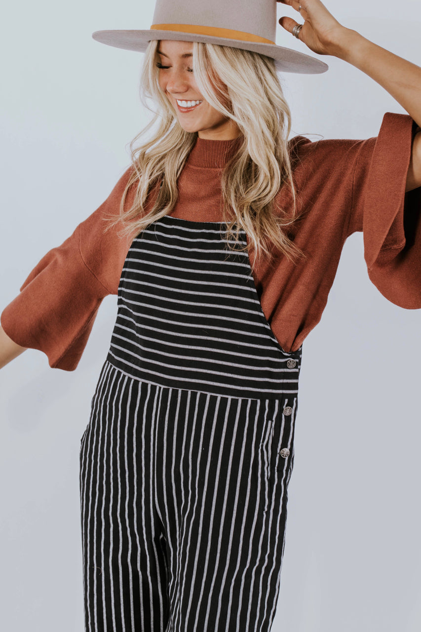 Stripe Jumpsuit for Fall | ROOLEE