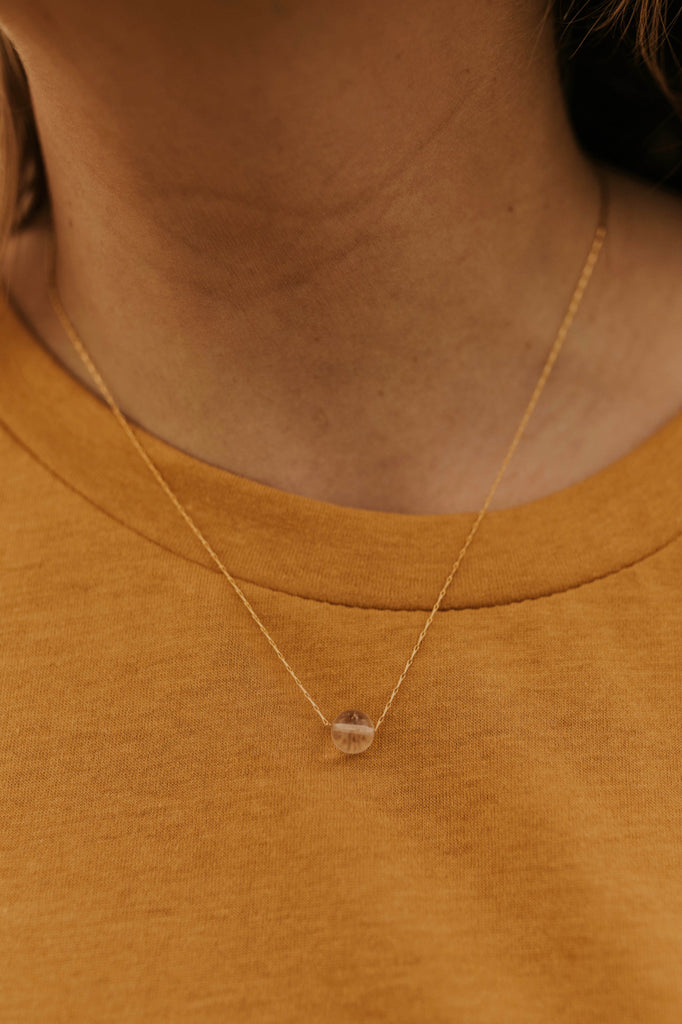 Clear Gem Necklace | ROOLEE