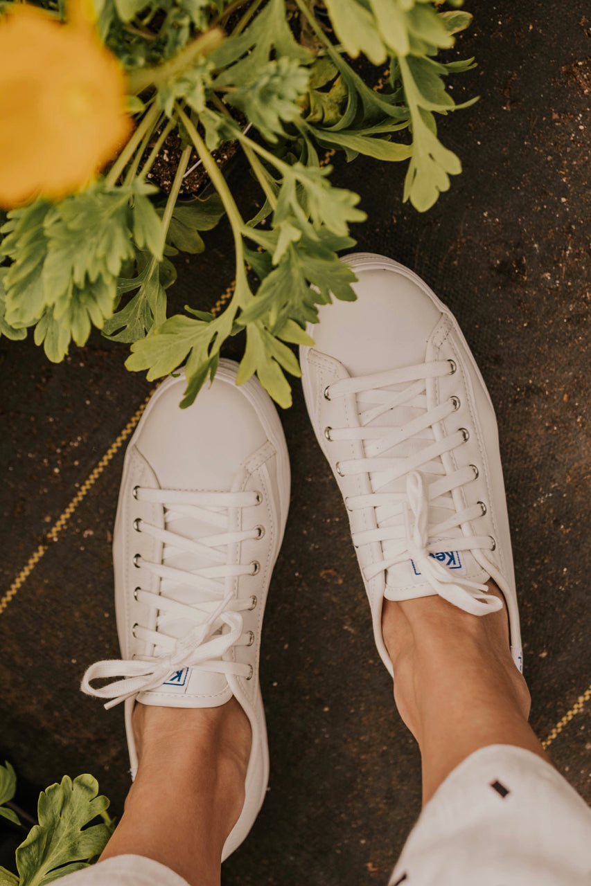 White Leather Sneakers | ROOLEE