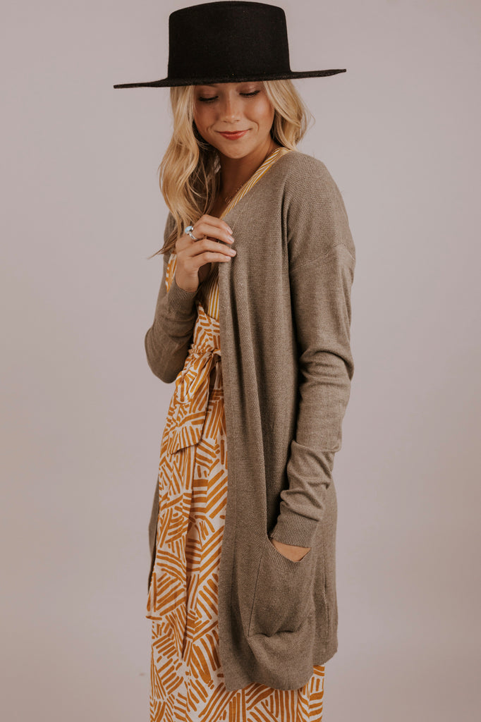Tan Long Cardigan | ROOLEE