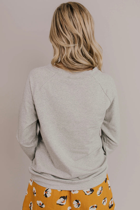 Grey Long Sleeve Pullover | ROOLEE