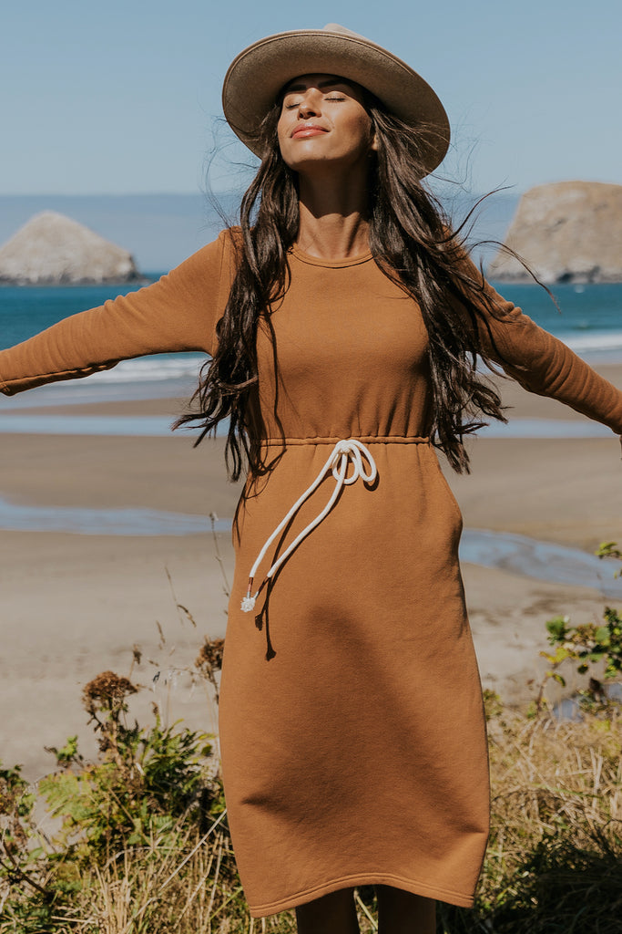 Long sleeve comfy casual dresses | ROOLEE
