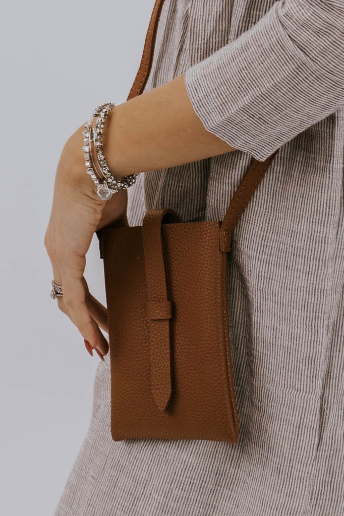 Faux Leather Cellphone Crossbody | ROOLEE