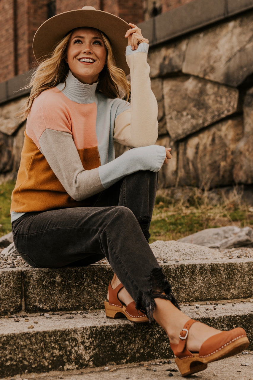 Textured Colorblock sweater | ROOLEE