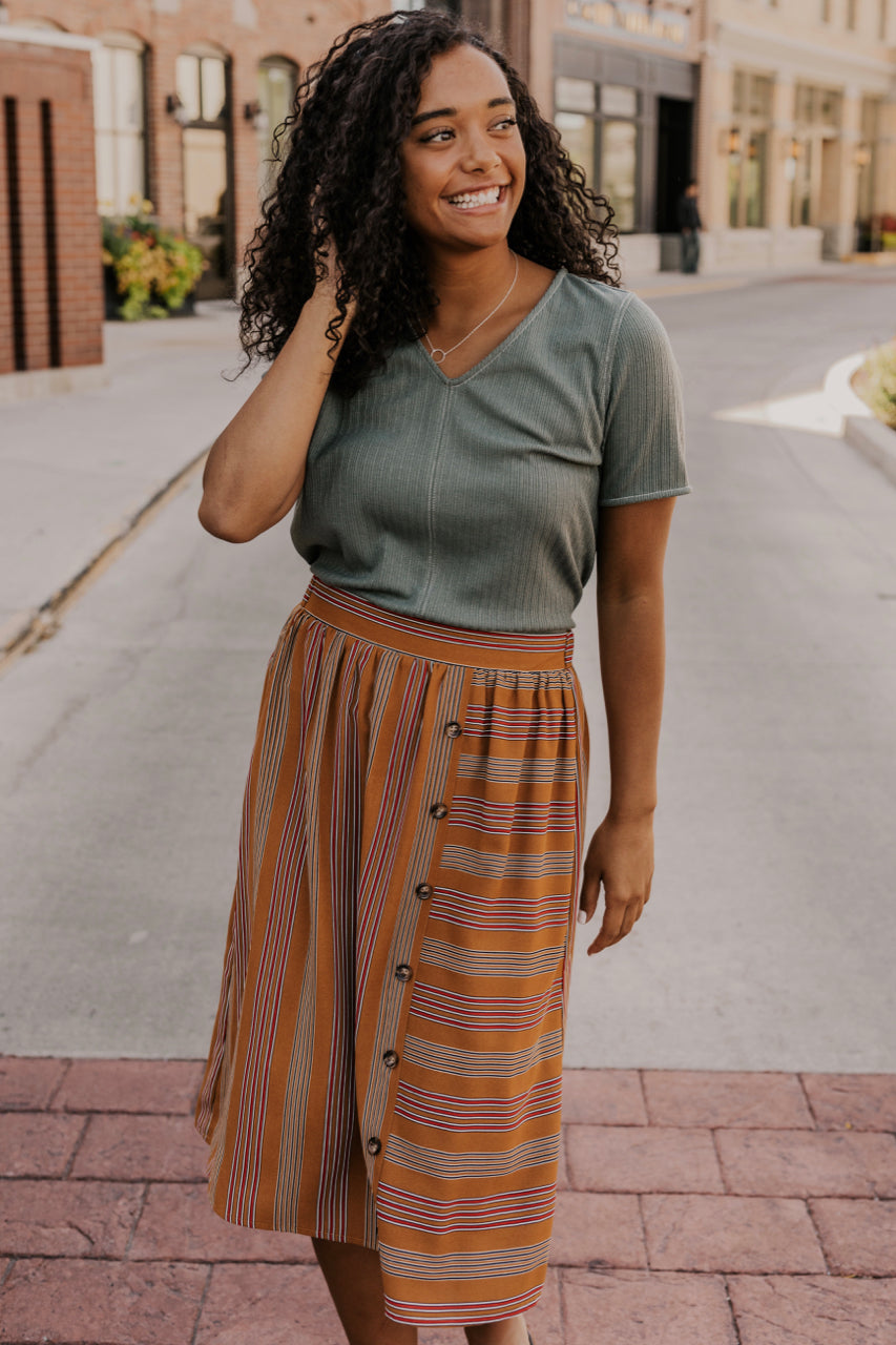 Suzie Button Skirt | ROOLEE
