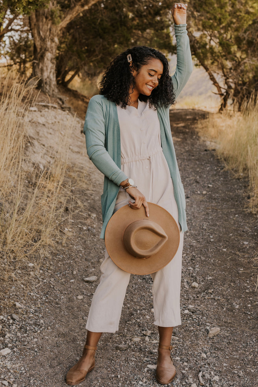 Summer Blue Cardigan for Fall | ROOLEE