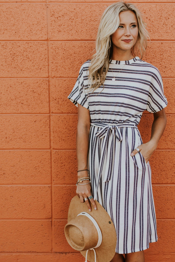 Dodson Stripe Dress | ROOLEE