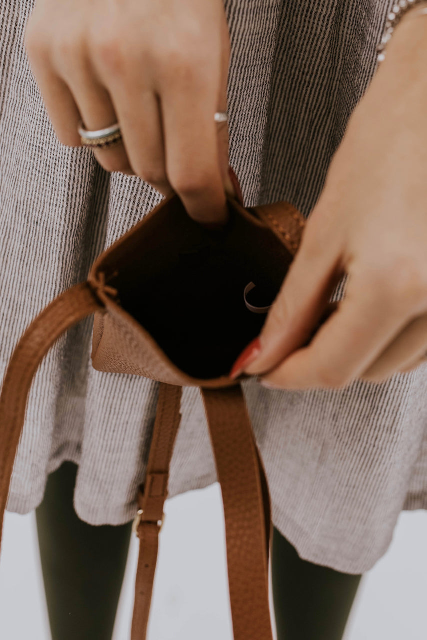 Faux Leather Mini Crossbody | ROOLEE