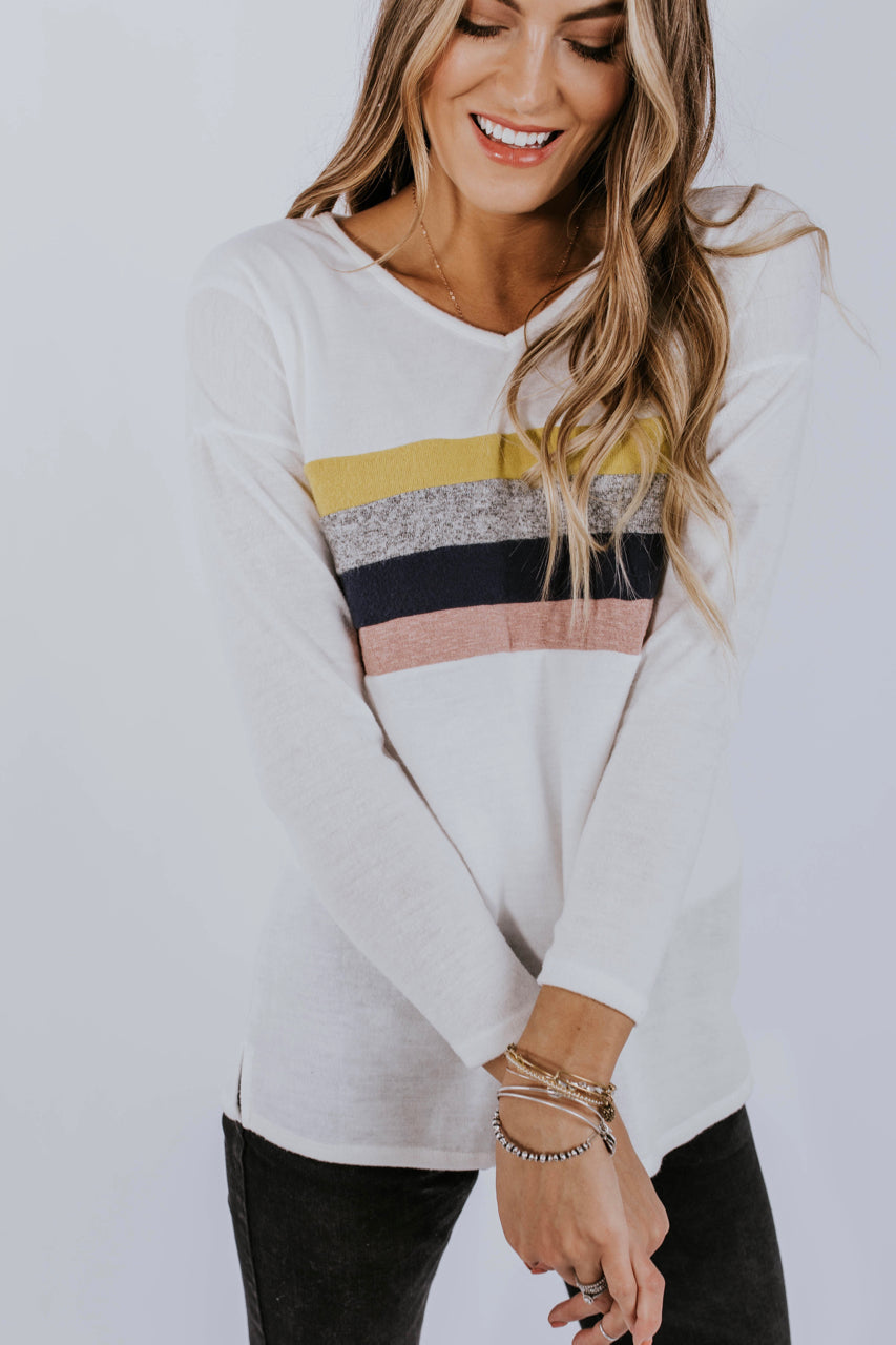 Retro Stripe Sweater | ROOLEE