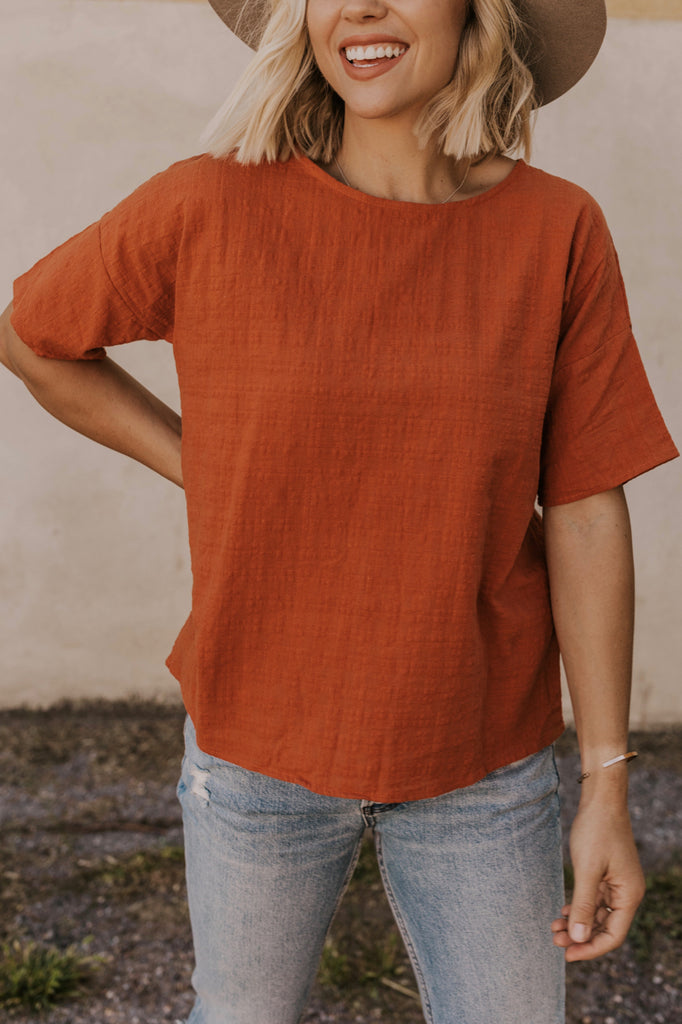Textured Rust Top | ROOLEE