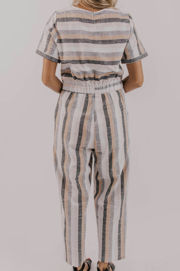 Bold Stripe Jumpsuit - Cute Modest Clothing for Women | ROOLEE