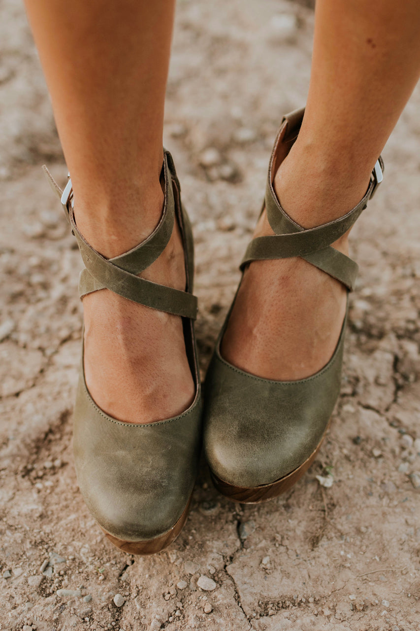 Free People Buena Vista Clog in Khaki | ROOLEE