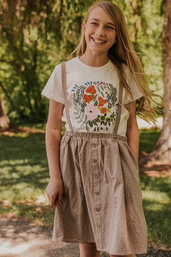 Girl's Embroidered Top | ROOLEE