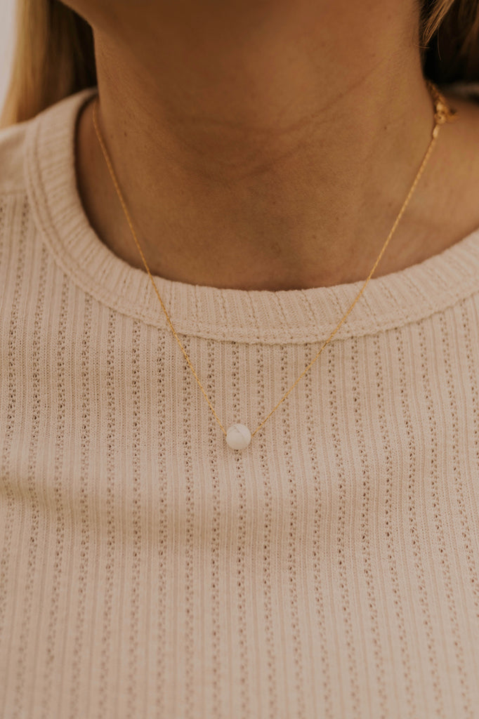 White Gem Necklace | ROOLEE