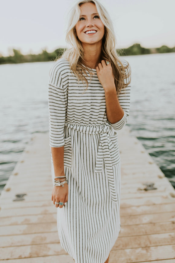 Joan Stripe Dress | ROOLEE