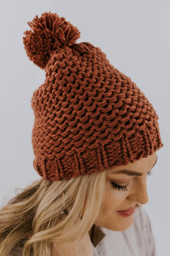 Knit Beanie with Pom Pom | ROOLEE