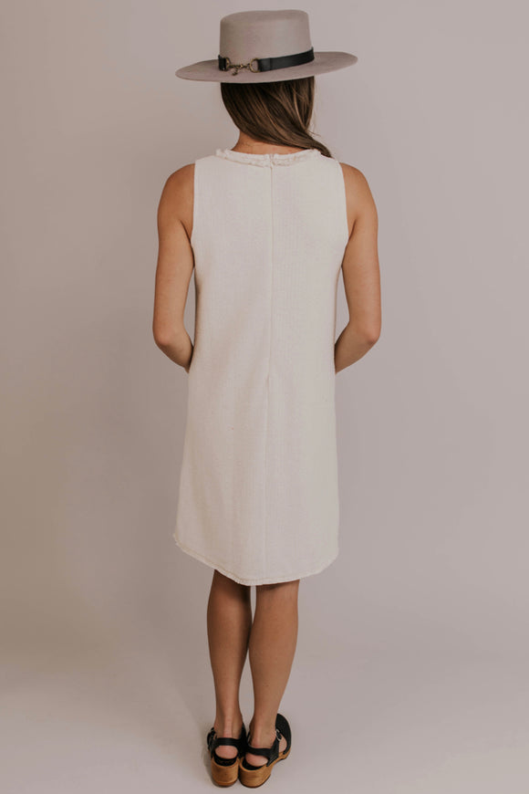 Beige Shift Dress | ROOLEE
