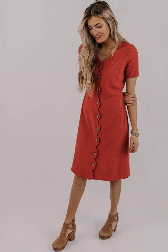 Scallop Wrap Dress | ROOLEE