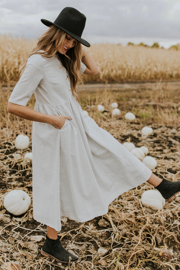 Clarice Button Dress | ROOLEE Dresses
