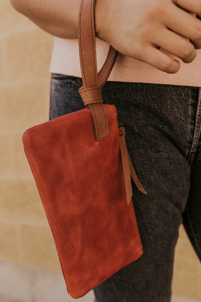 Red Wristlet Purse | ROOLEE