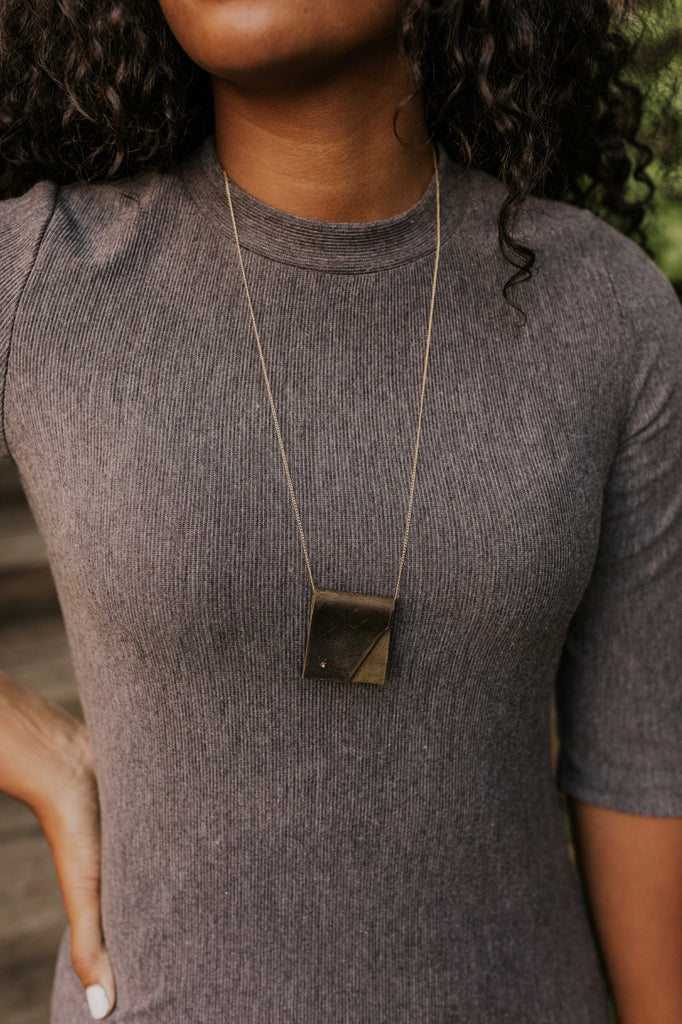 Leather Fold Necklace