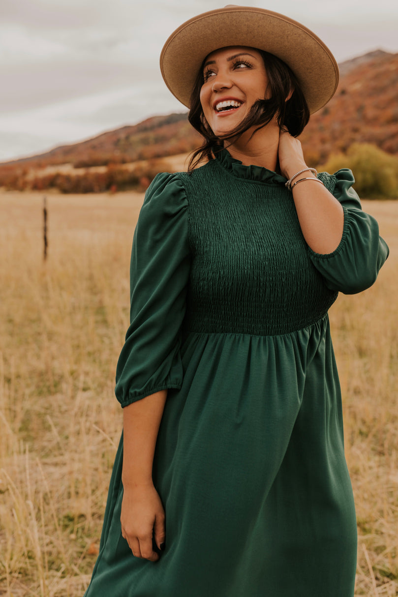 Emerald Green Holiday Dress | ROOLEE