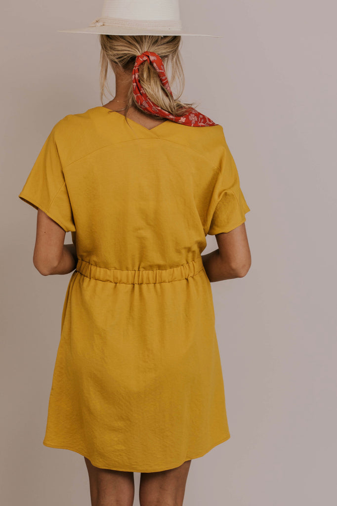 Mustard Midi Dress | ROOLEE