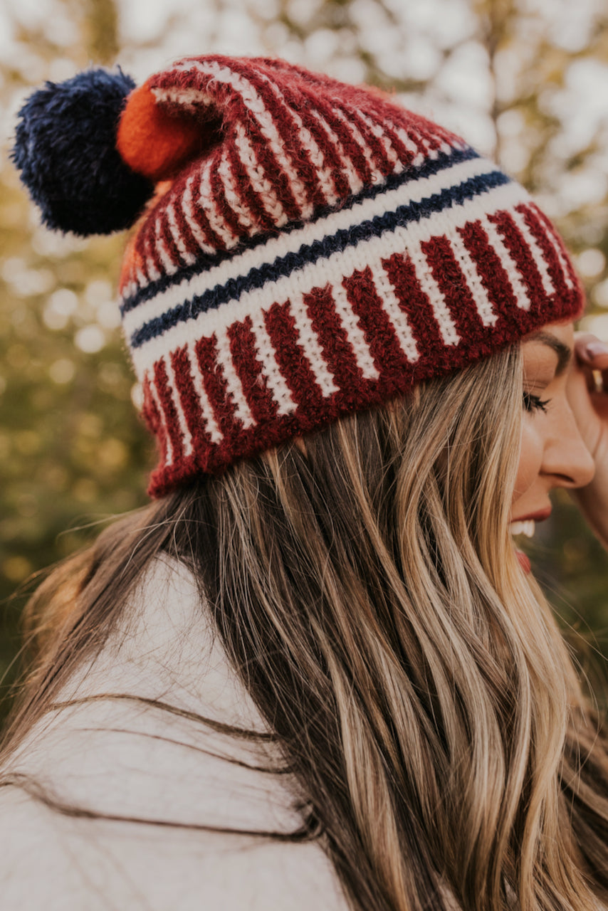 Multi Color Stripe Beanies | ROOLEE